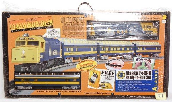 21: MTH Rail King 30-4055-1 Alaska F40PH w/Proto