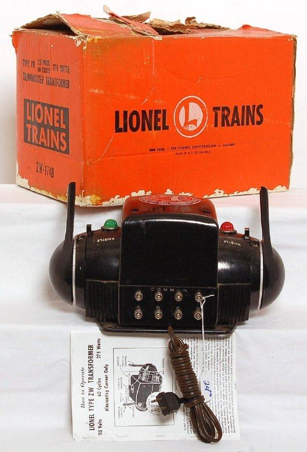 24: Lionel type ZW 275 watts transformer in orange OB