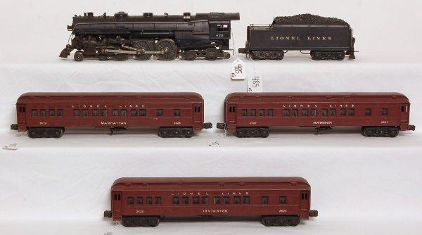 485: Lionel 773 Hudson, 2426W, 2625, 2627, 2628