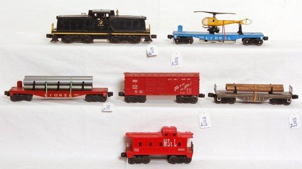5013: Lionel 629, flatcar, 6511, 3409, 6014, 6059