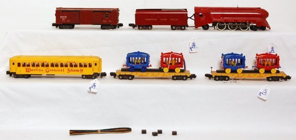 492 American Flyer Circus Train And Paper Items Lot 492