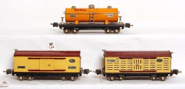 803: Lionel prewar 813, 814 and 815 Shell cars