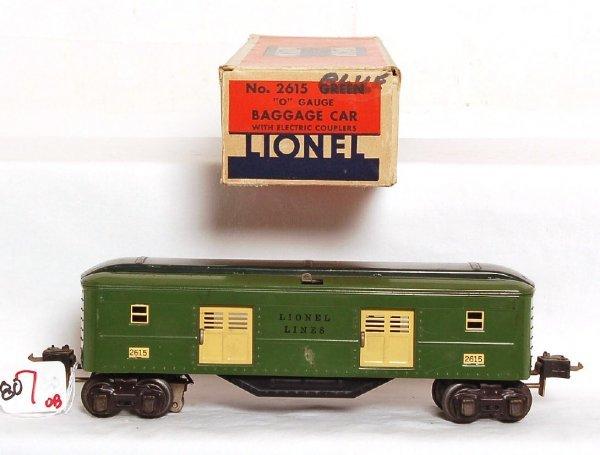 807: Lionel prewar 2615 baggage car, OB
