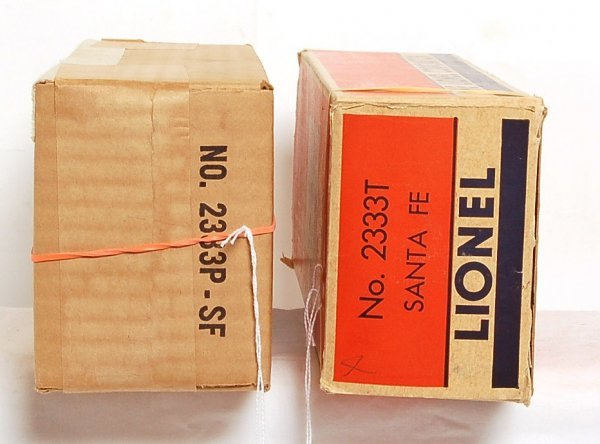 808: Nice Lionel 2333 Santa Fe F3 AA boxes only