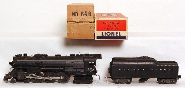 812: Lionel 646 Hudson with 2046W tender, OB