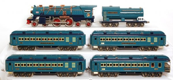 813: Lionel Blue Comet set, 400E with cars