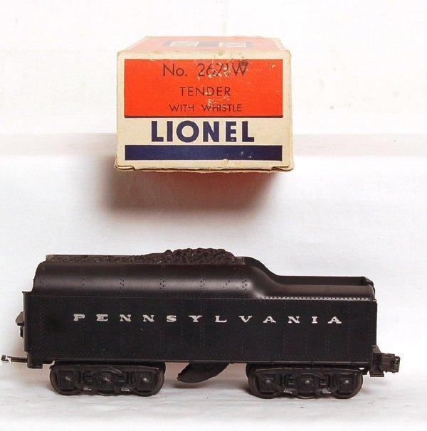 814: Nice Lionel 2671WX twelve wheel PRR tender, OB