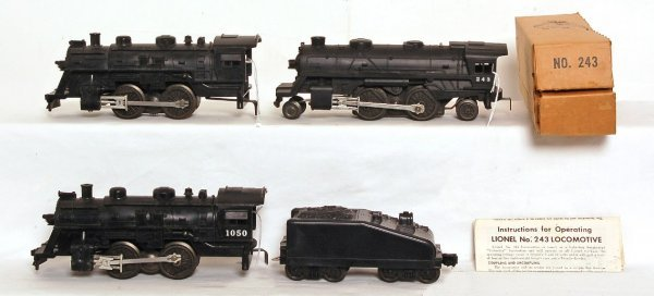 816: Unnumbered Lionel postwar steam, plus 1050, 243