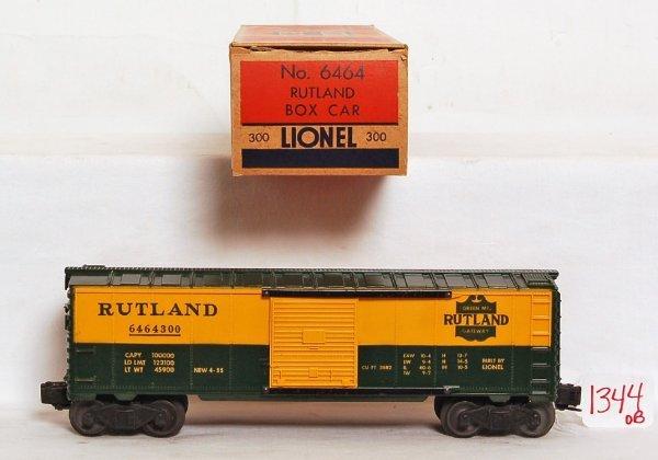 1344: Mint Lionel 6464-300 solid shield Rutland, OB