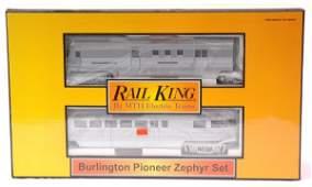 2341: MTH 2186-1 Burlington Pioneer Zephyr Set MINT OB