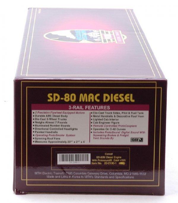 2601: MTH 20-2190-1 Conrail SD-80M Diesel MINT Boxed