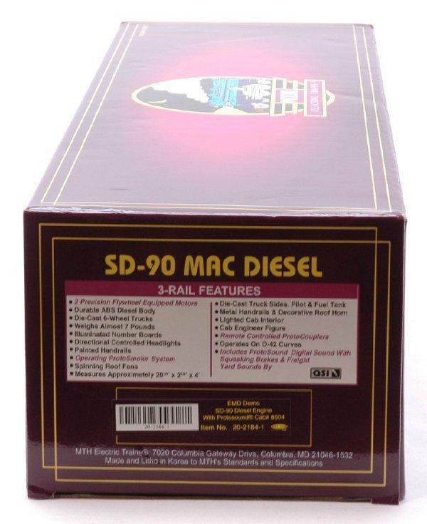 2603: MTH 20-2184-1 EMD Demo SD-90M Diesel MINT OB