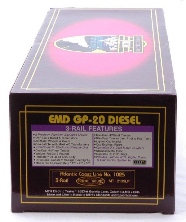2605: MTH 2139LP ACL Cab No. 1025 GP-20 Diesel MIB