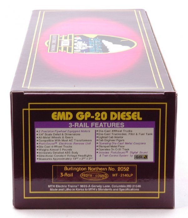 2614: MTH 2140LP BN EMD GP-20 Diesel Cab No. 2052MIB