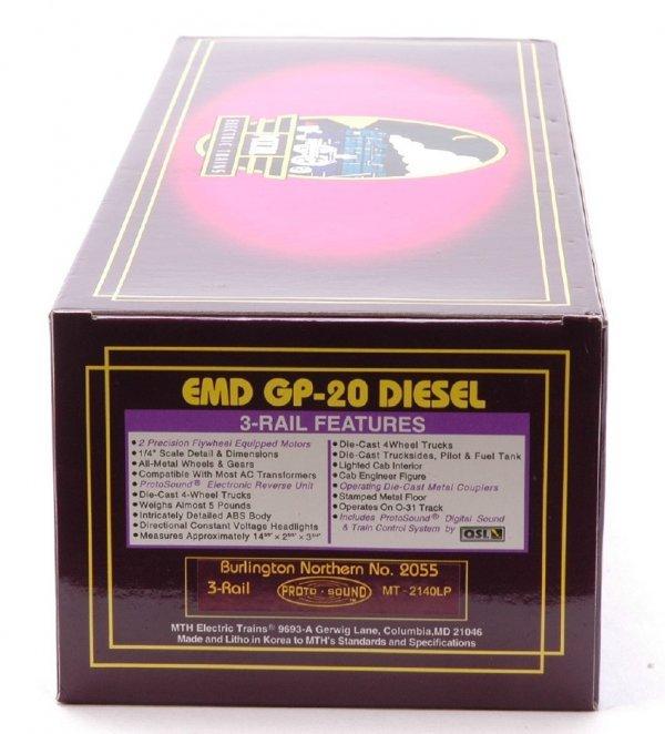 2615: MTH 2140LP BN EMD GP-20 Diesel Cab No. 2055 MIB