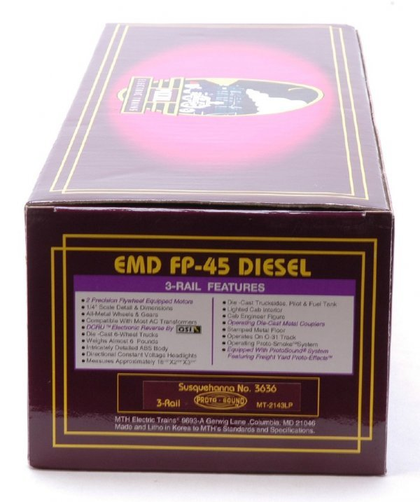 2620: MTH 2143LP Susquehanna EMD FP-45 Diesel MINT OB
