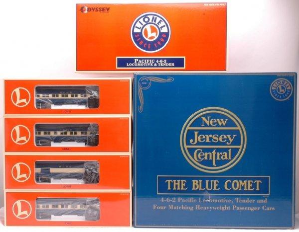 3063: Lionel 21787 Jersey Central Blue Comet Set MIB