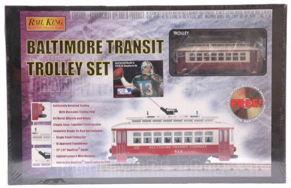 11: MTH 4027-0 Baltimore Transit Trolley Set MINT OB