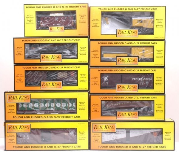 17: MTH PRR Freights 79059 79062 74104 76129 MINT OBs