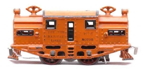 813: Ives Unusual Orange 3216 Electric  0-4-0 Loco