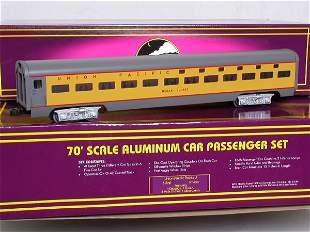 MTH Union Pacific 70' scale aluminum 7-car set