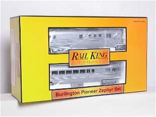 Rail King 30-2186-1 Burlington Pioneer Zephyr set