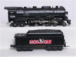Lionel Monopoly 4-6-4 w/ four car set, OBs.
