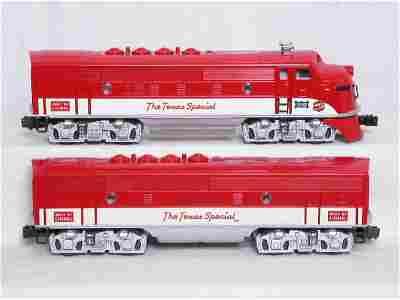 51: Lionel Texas Special set, F3 A-B-B-A, 6 cars