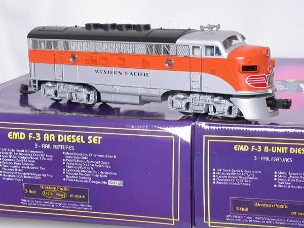 67: MTH Western Pacific California Zephyr ABBA 7 cars