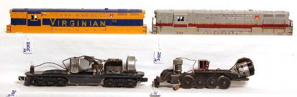2005: Lionel 2321 and 2322 shells, 2243 chassis, 1 more