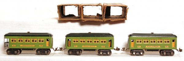 2021: Two Lionel 607 Pullmans and 608 observation