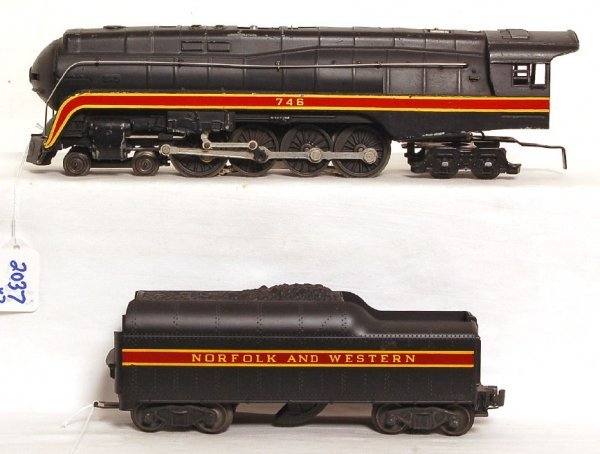 2037: Lionel 746 and 746W N&W J class loco & tender