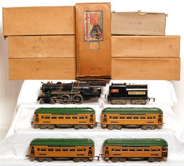 3242: Rare variation American Flyer 1448RCT sample set
