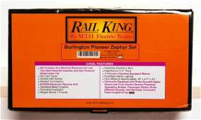 164: MTH Rail King 30-2186-1 Burlington Pioneer Zephyr