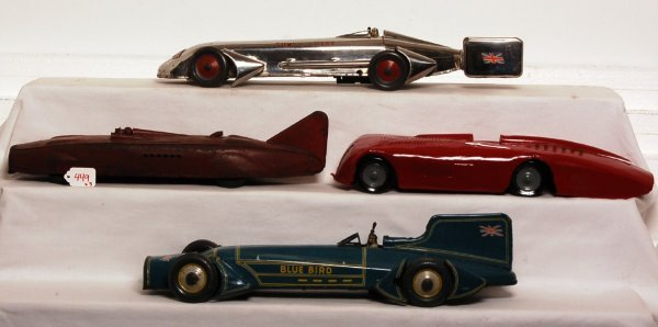 449: Four land speed record cars one Kingsbury Toys