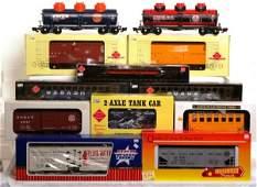 514: Twelve large gauge trains in OB, Aristo-Craft...