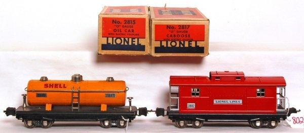 802: Lionel prewar 2815 Shell, 2817 caboose OB