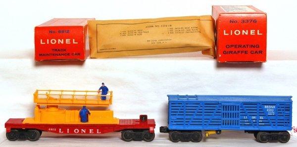 803: Mint Lionel 6812 maintenance, 3376 giraffe OB