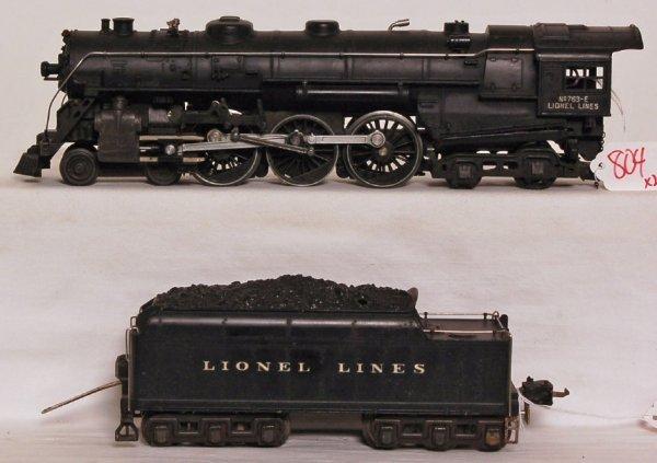 804: Lionel prewar 763E Hudson, 2226W tender