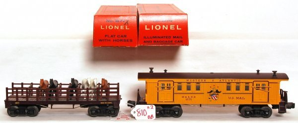 810: Mint Lionel 1876 and 1877 cars, OB