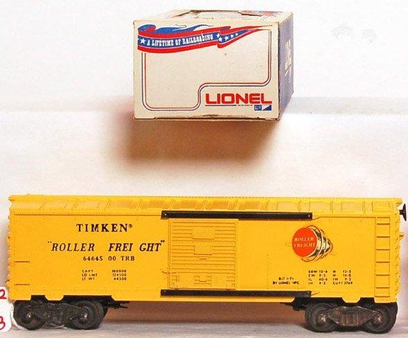 812: Mint Lionel 6464-500 Glen Uhl boxcar, OB