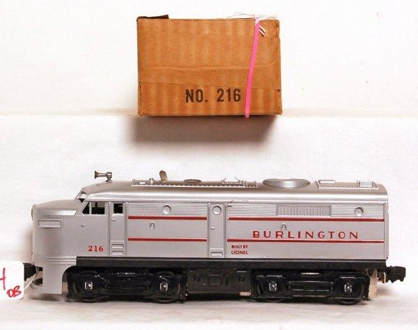 814: Unrun Lionel 216 Burlington Alco A unit, OB