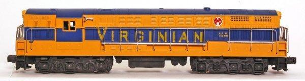 820: Lionel 2322 painted Virginian FM