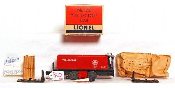 822: Nice Lionel 55 tie jector motorized unit OB