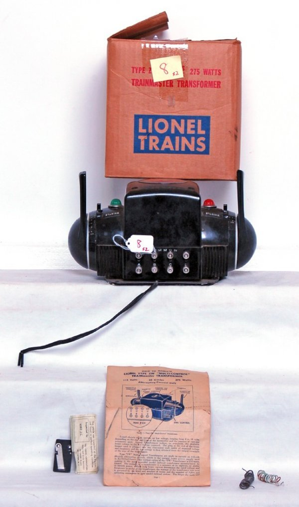 8: Two Lionel type ZW 275 watts transformers in OB
