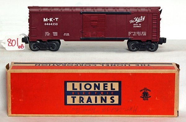 801: Lionel 6464-350 MKT The Katy boxcar, OB