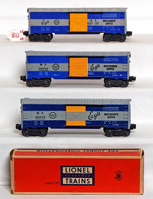 802: Three Lionel 6464-150 Missouri Pacific variations