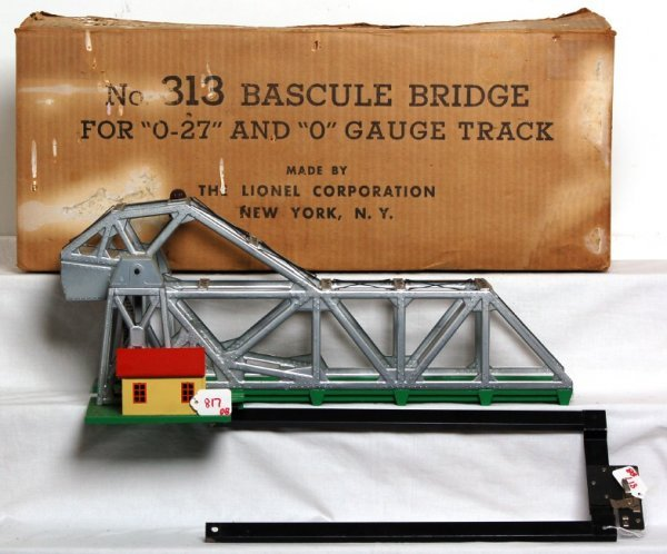 817: Lionel 313 bascule bridge in OB