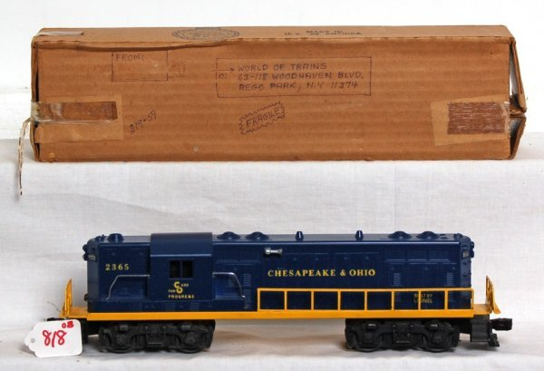 818: Lionel 2365 Chesapeake and Ohio GP-7 in OB