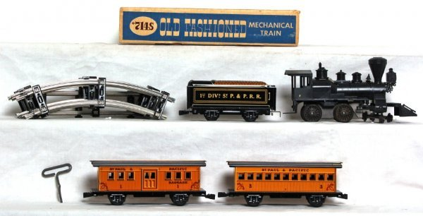971: Marx Old Fashioned mechanical train set in OB - 2